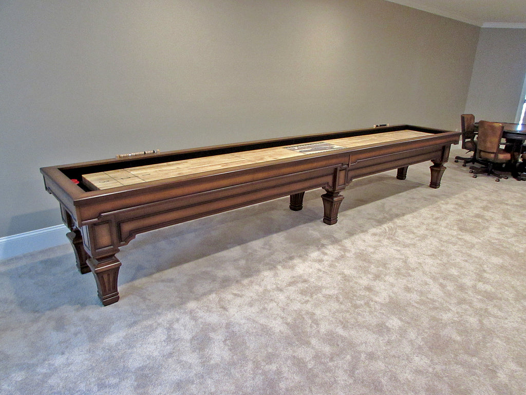 olhausen hampton shuffleboard table 16 foot heritage mahogany