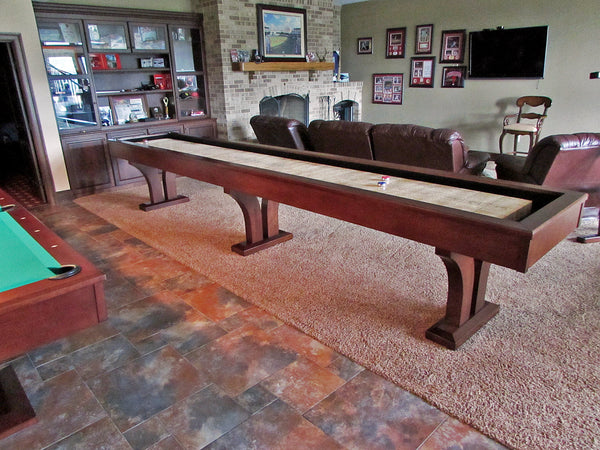 olhausen alexandria 16' shuffleboard table side view