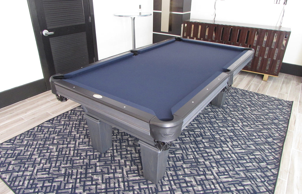 olhausen classic pool table matte graphite side view