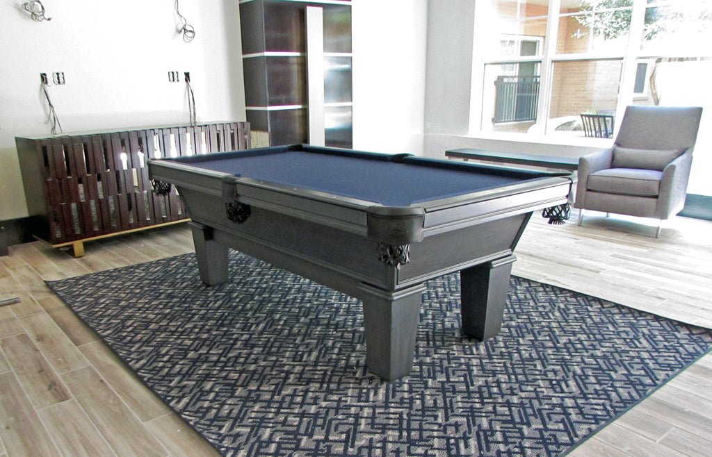 olhausen classic pool table matte graphite