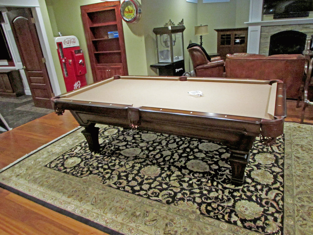 olhausen hampton pool table heritage cherry finish main