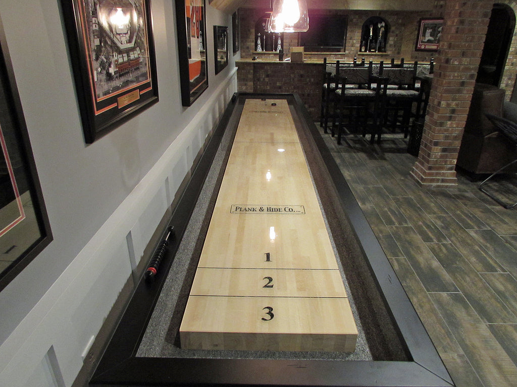 plank and hide gaston shuffleboard play field
