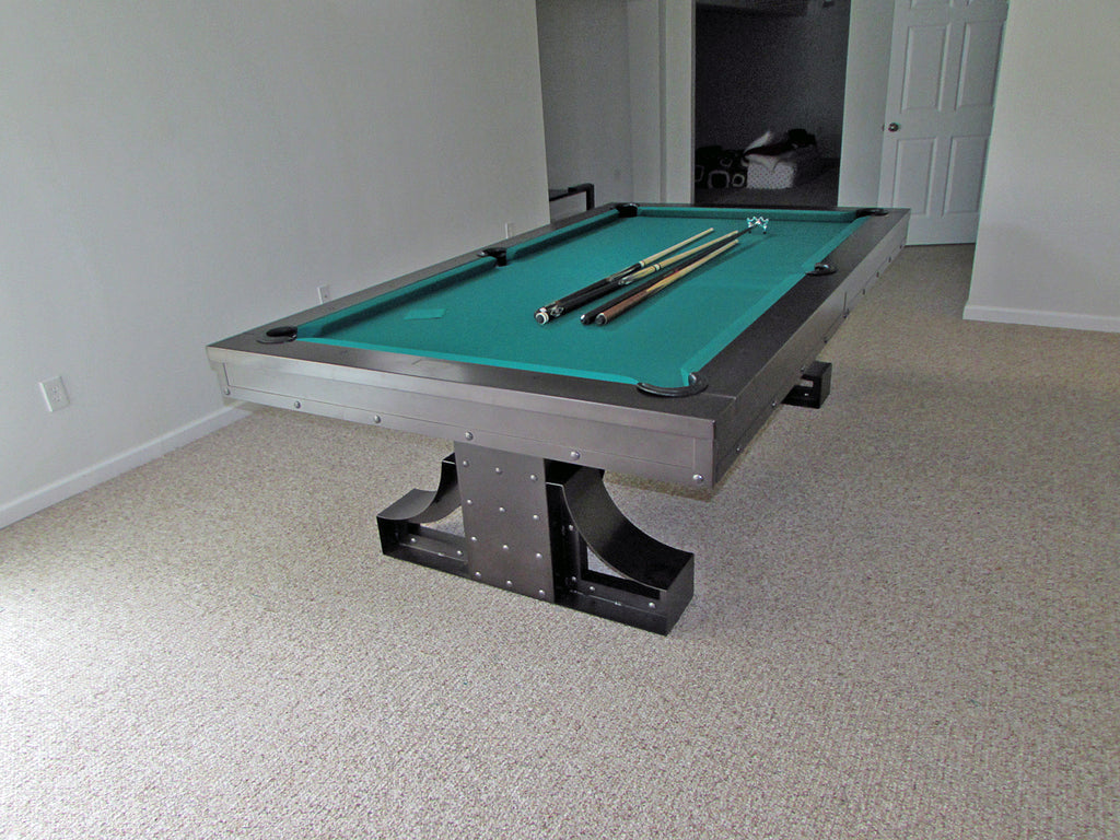 plank and hide rexx pool table black finish