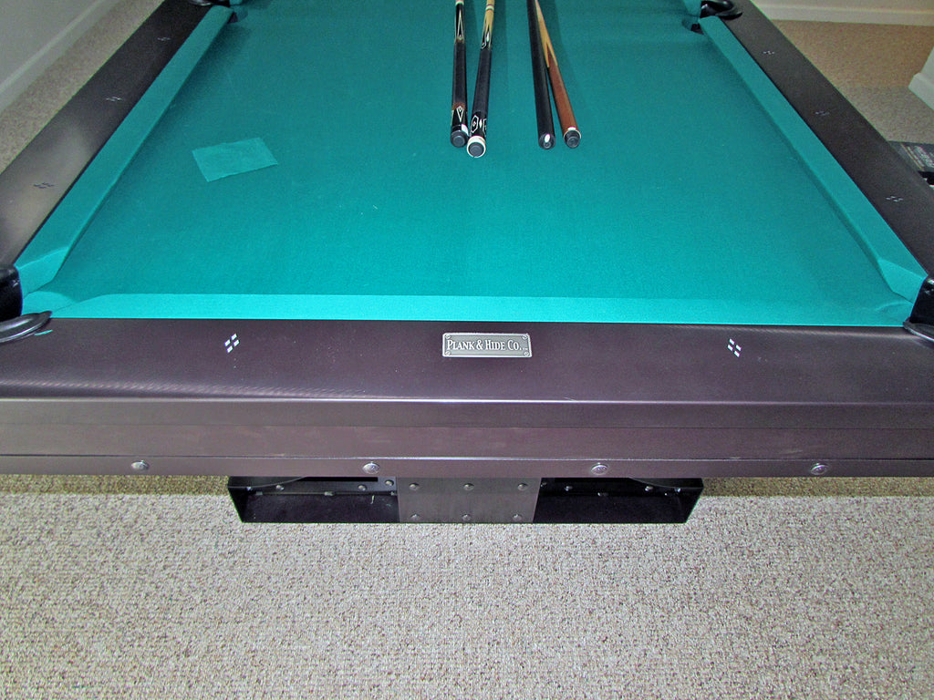 plank and hide rexx pool table rail