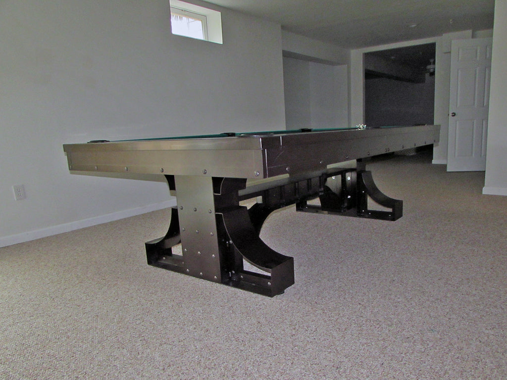 plank and hide rexx pool table black room