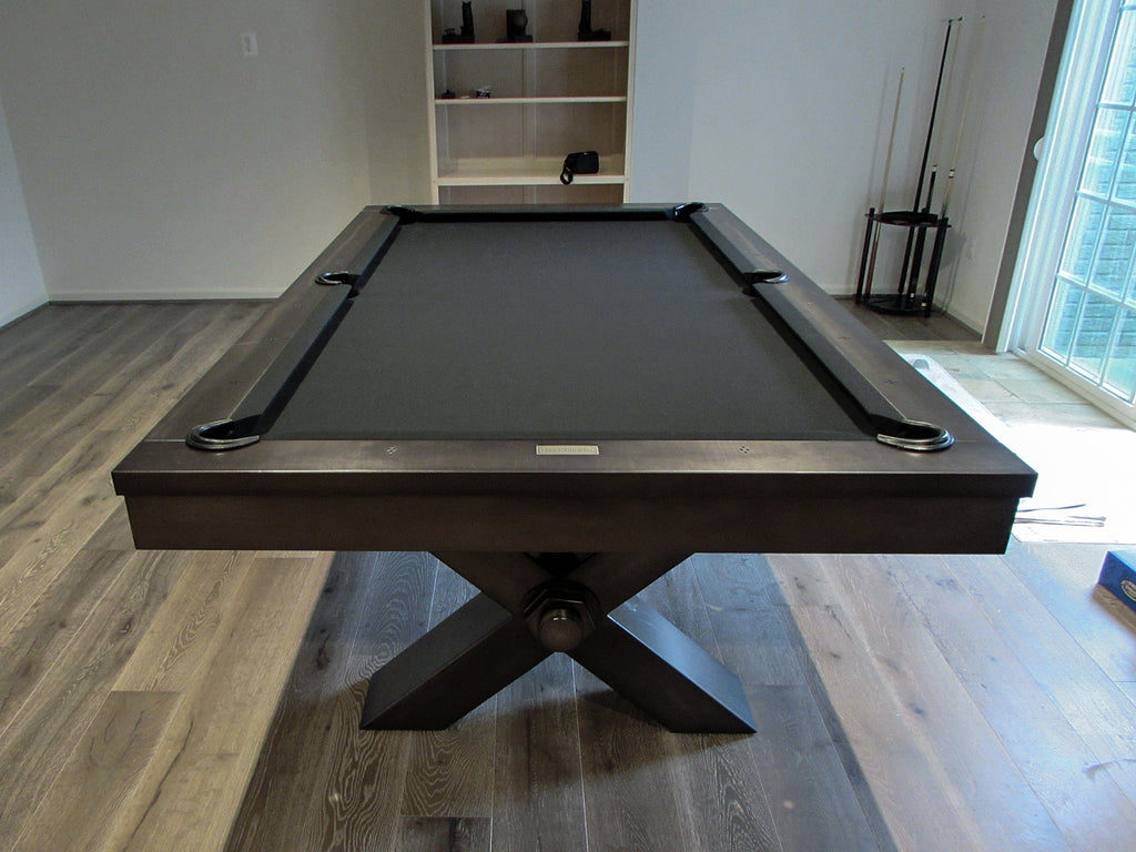 plank and hide vox pool table grey metal detail