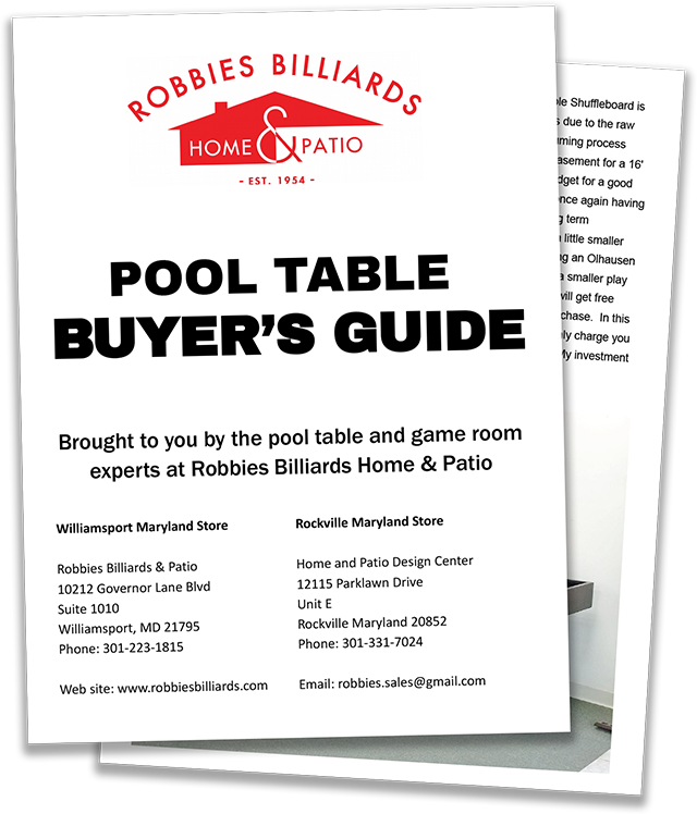 Pool table buyer's guide