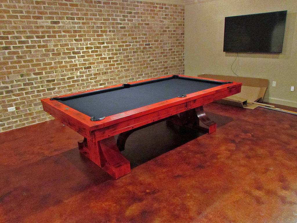 plank and hide rexx pool table red room