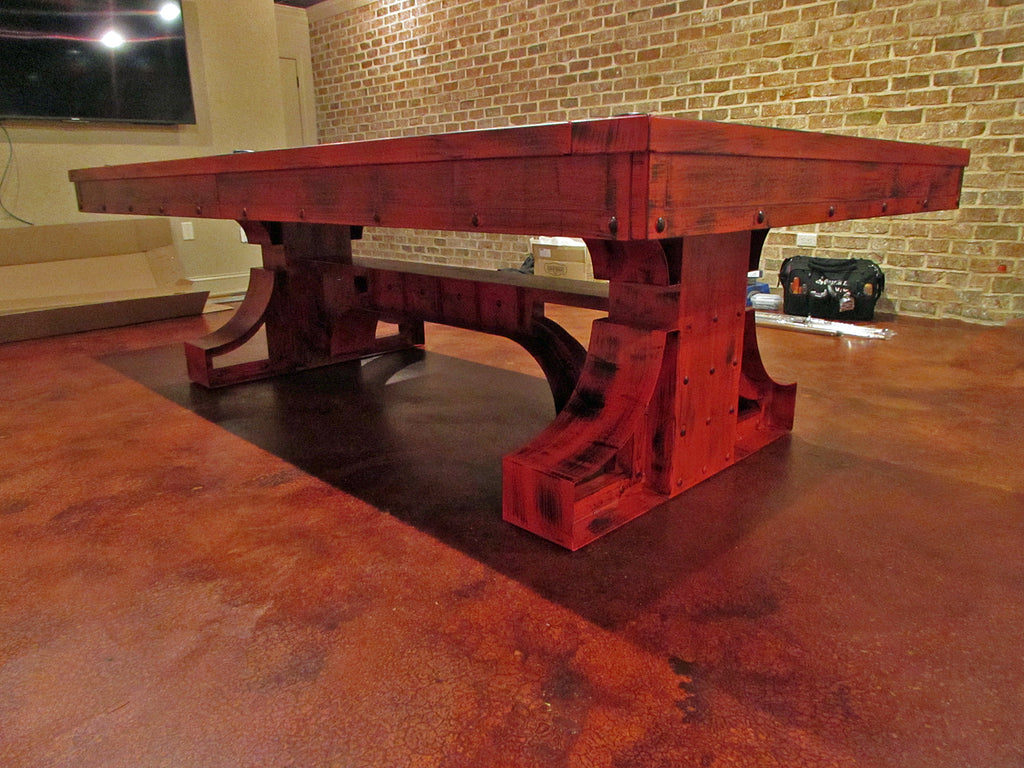 plank and hide red rexx pool table base