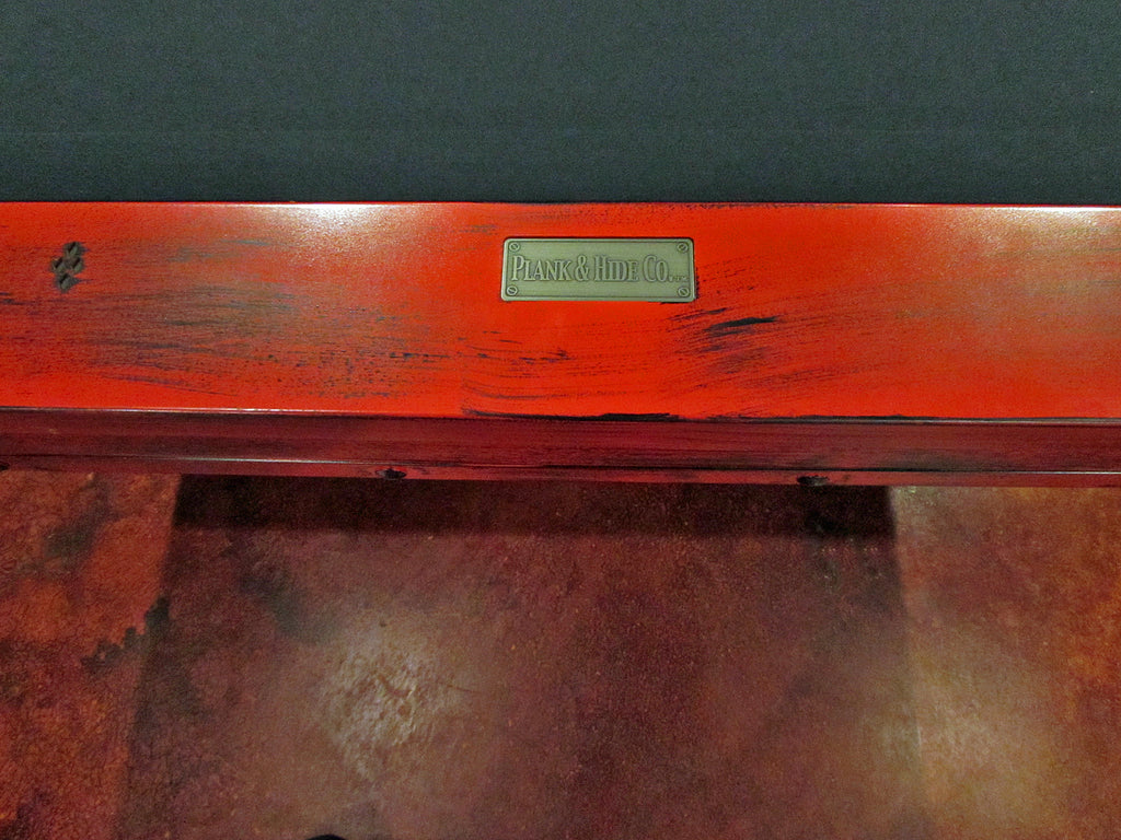 plank and hide rexx pool table red rail detail