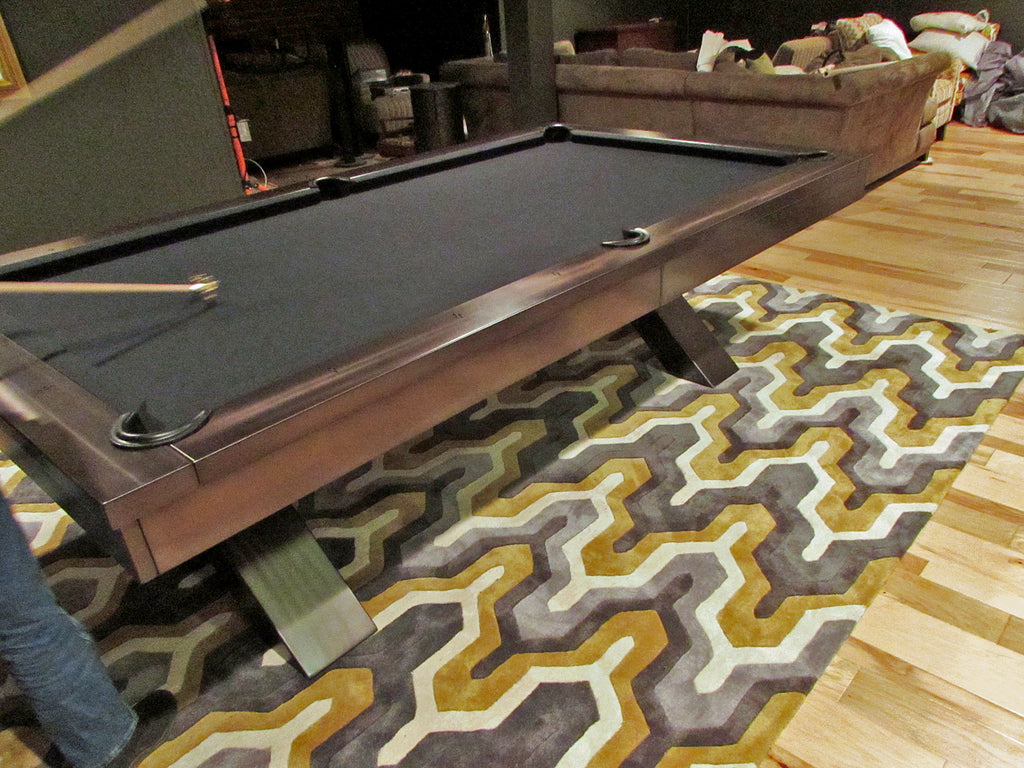 plank and hide vox pool table grey with black cloth