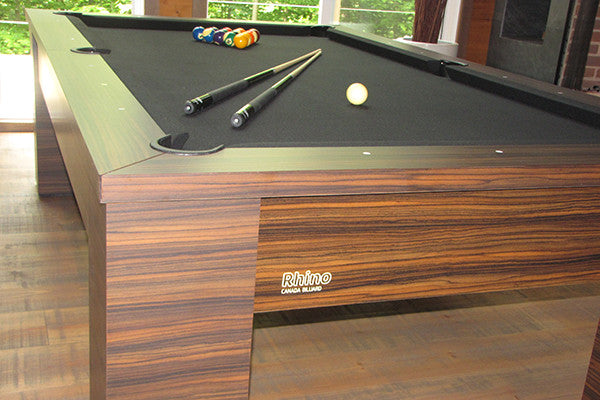 canada billiard rhino pool table detail