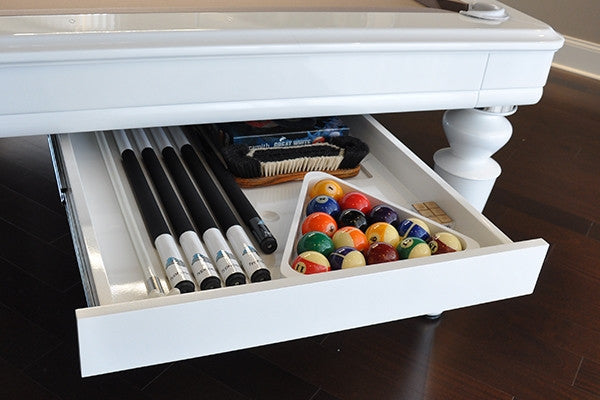 La Condo Colonial Dining Pool Table drawer option