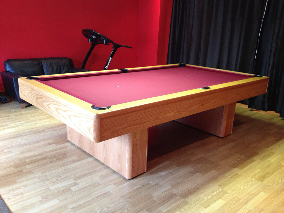 monarch pool table light maple finish