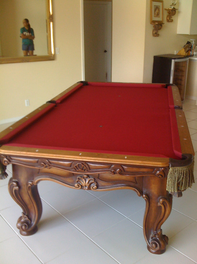 olhausen cavalier II pool table in room