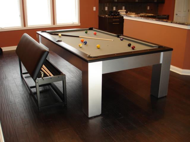 olhausen madison pool table aluminum with custom bench