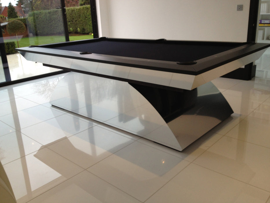 Olhausen Modern Pool Table brushed nickel
