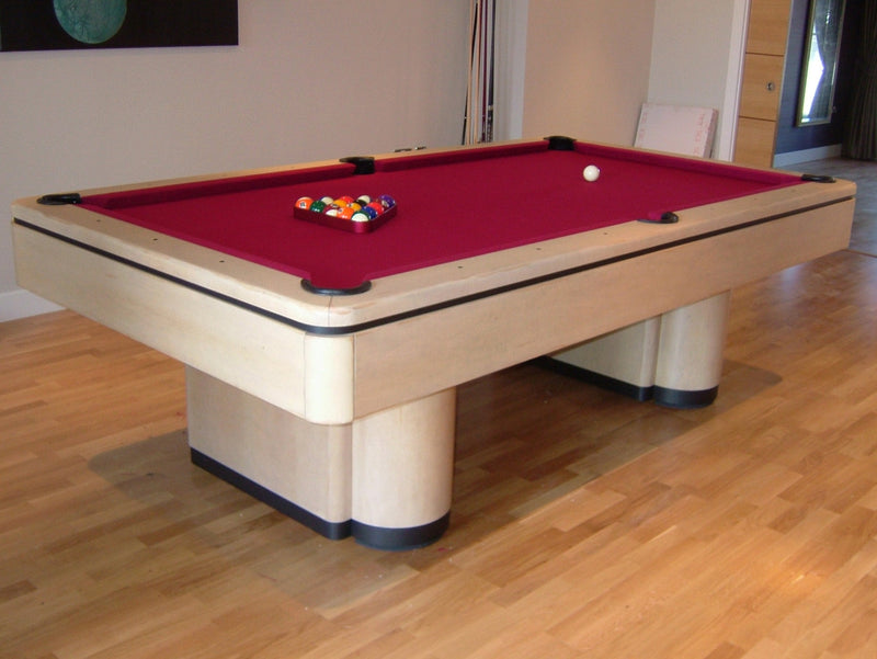 Olhausen Plaza Pool Table natural maple detail