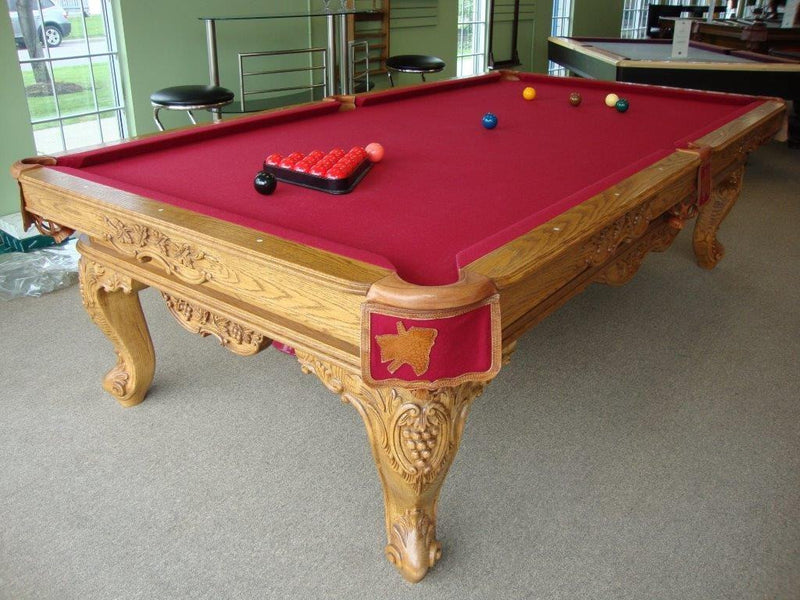 Olhausen Louis XIV Pool Table butternut