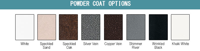All Weather Billiards Metal Finish Options