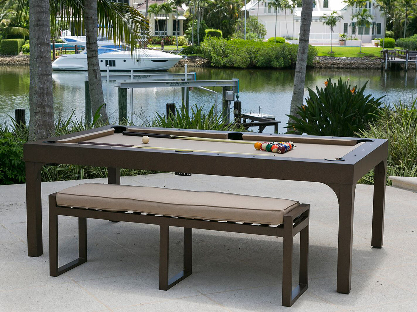 Balcony Outdoor Pool Table No Dining Top Speckled Oak