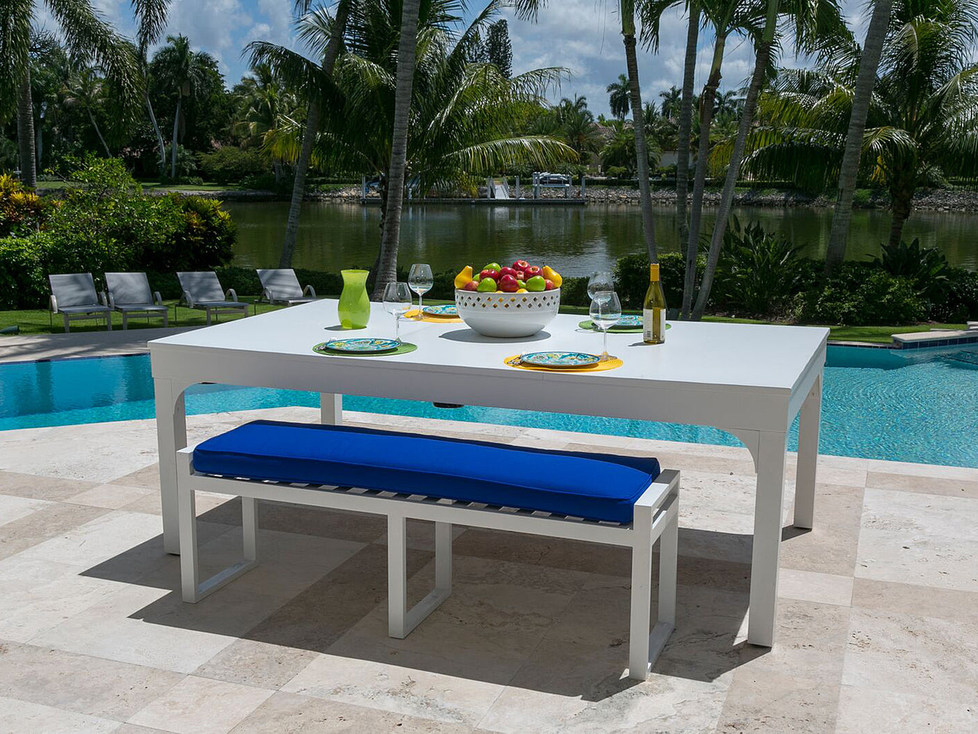 Balcony Outdoor Pool Table With Dining Top White ...