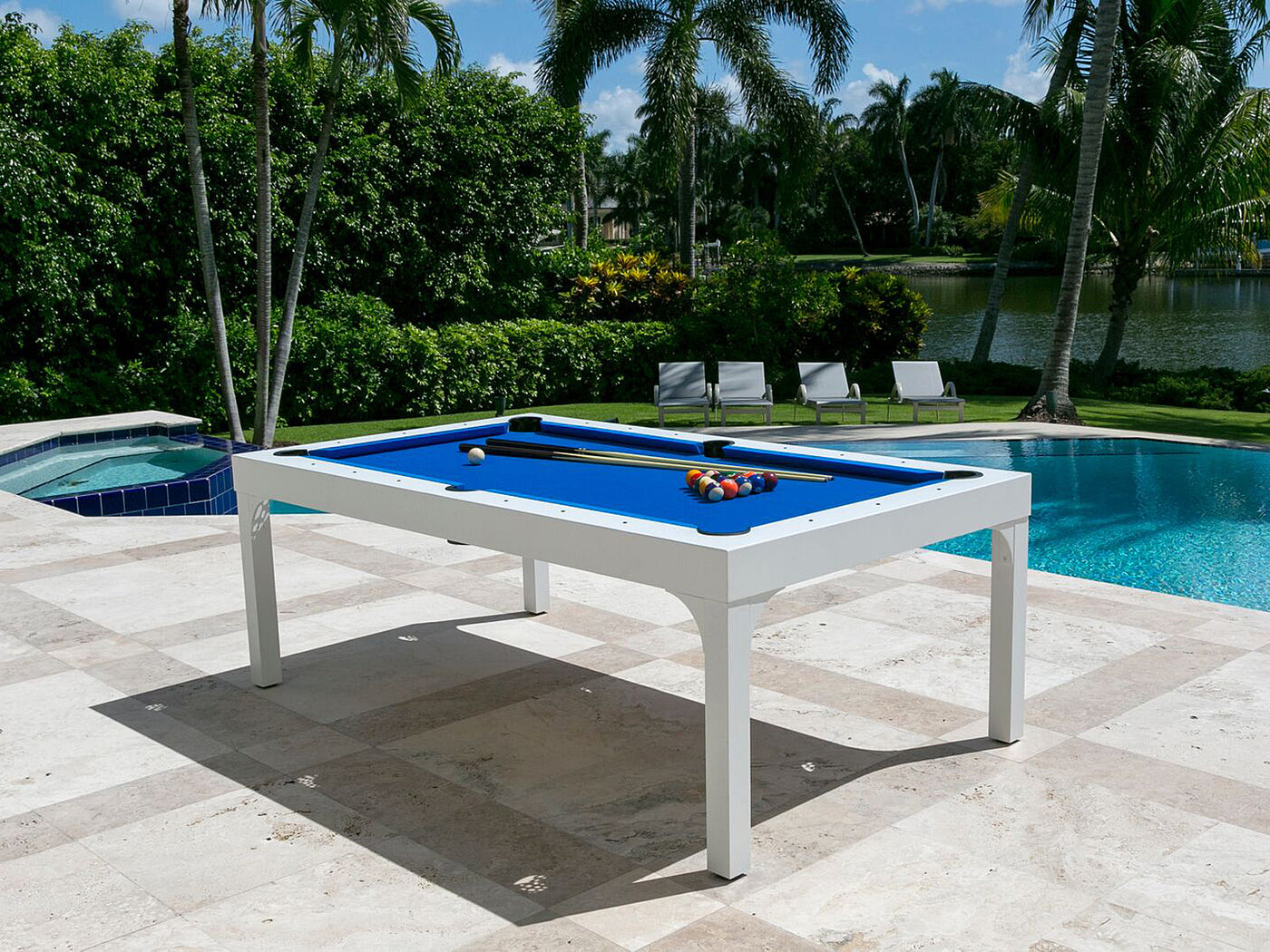 The balcony outdoor pool table robbies billiards for Outdoor pool