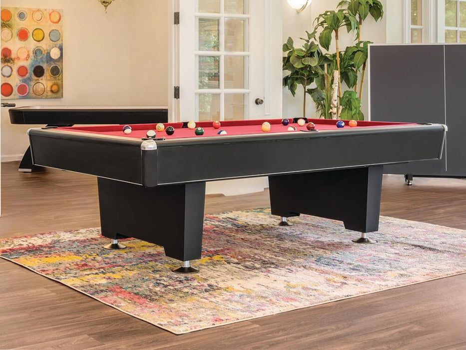 Presidential black diamond pool table room setting