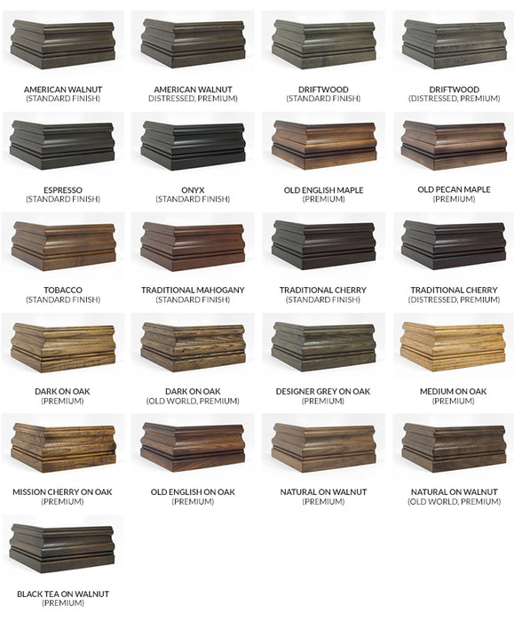 California House wood finish options