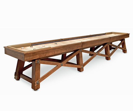 California House Loft Shuffleboard Table stock