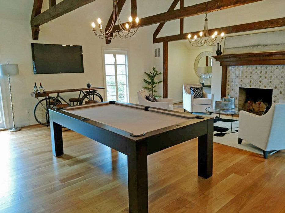 Custom Dining Pool Table 8' Khaki Cloth end