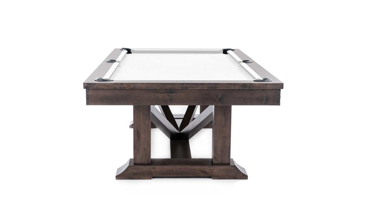 plank and hide lucas pool table end