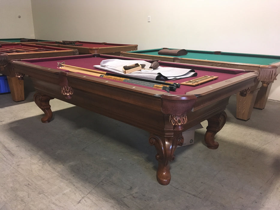 Olhausen Seville pool table mahogany finish