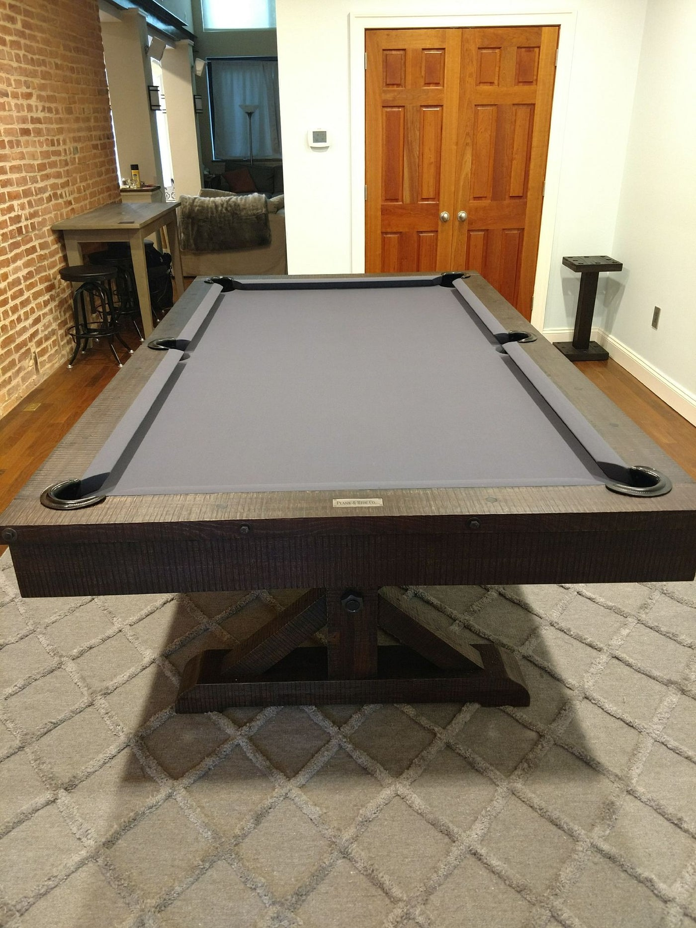 ... Plank And Hide Otis Basement Game Room On Rug; Plank And Hide Otis Pool  Table ...