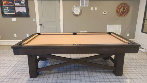 plank and hide mccormick pool table room camel cloth