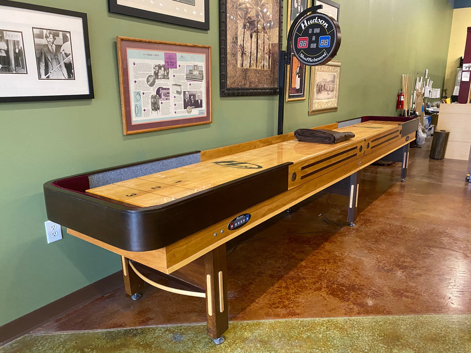 used 16' grand hudson deluxe shuffleboard table