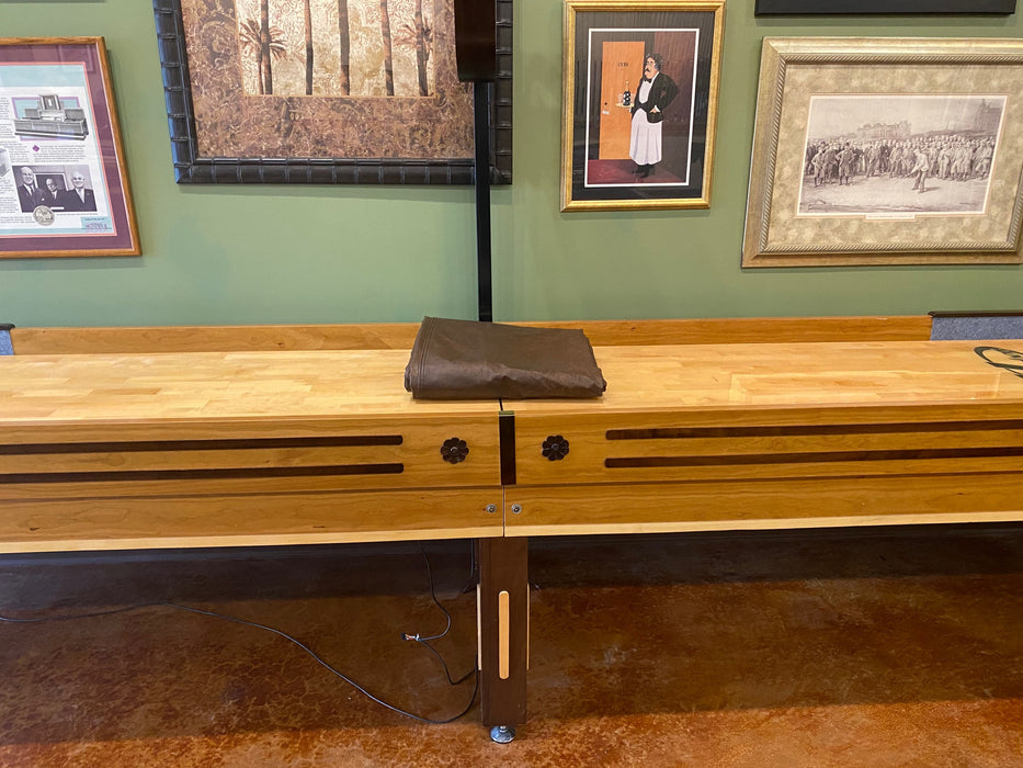 used 16' grand hudson deluxe shuffleboard table cabinet