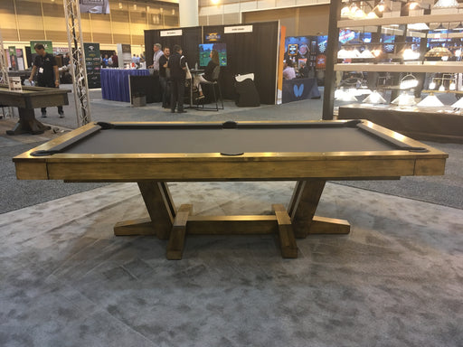 California House Petaluma Pool Table Heritage Finish side