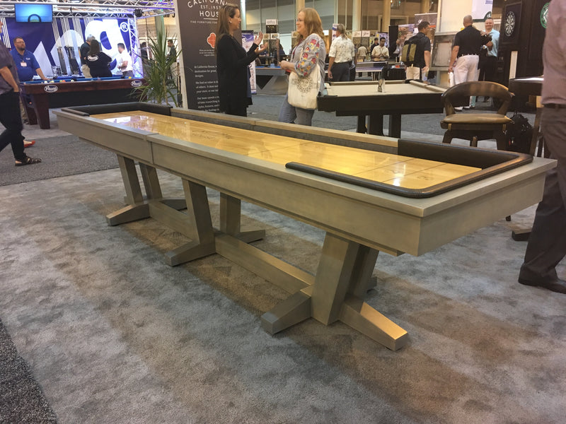 California House Petaluma Shuffleboard Table driftwood finish
