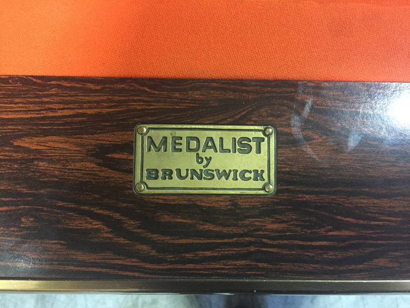 used brunswick medalist pool table name plate