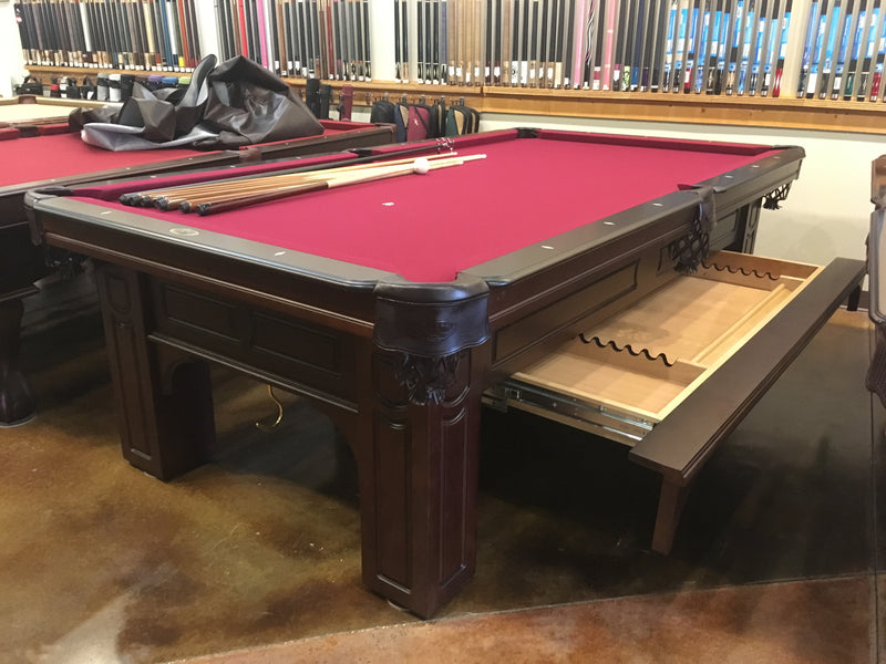 olhausen Remington pool table cherry drawer