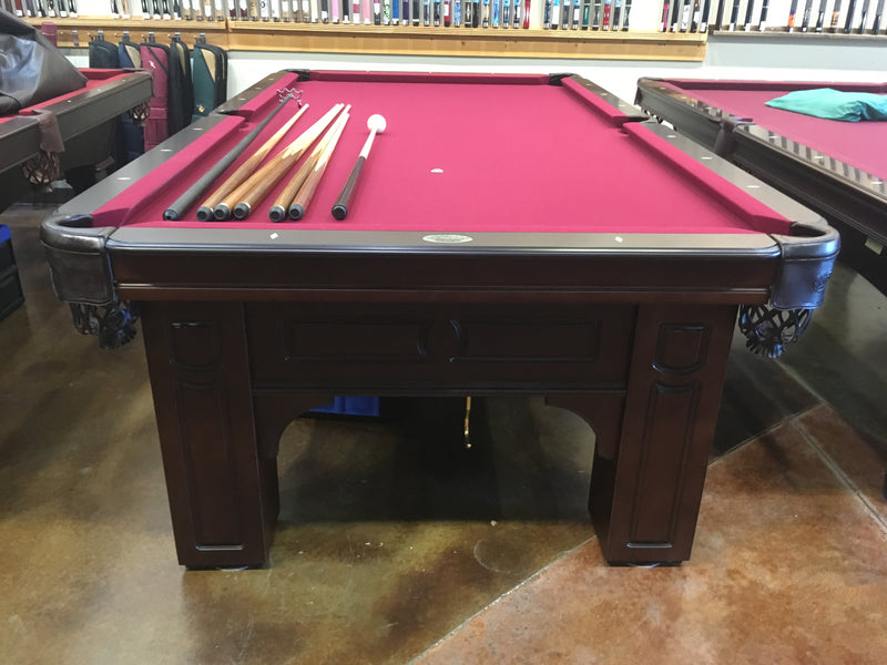 olhausen Remington pool table cherry end