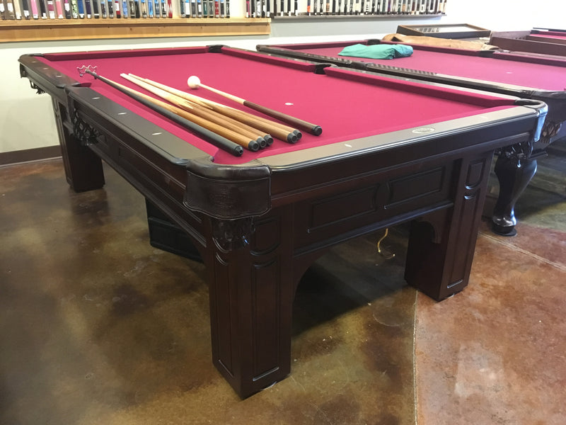 olhausen Remington pool table cherry side