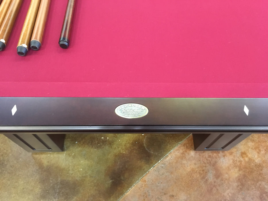 olhausen Remington pool table cherry name plate