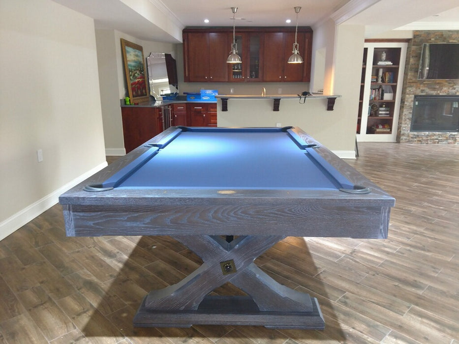 olhausen tustin pool table weathered oak end