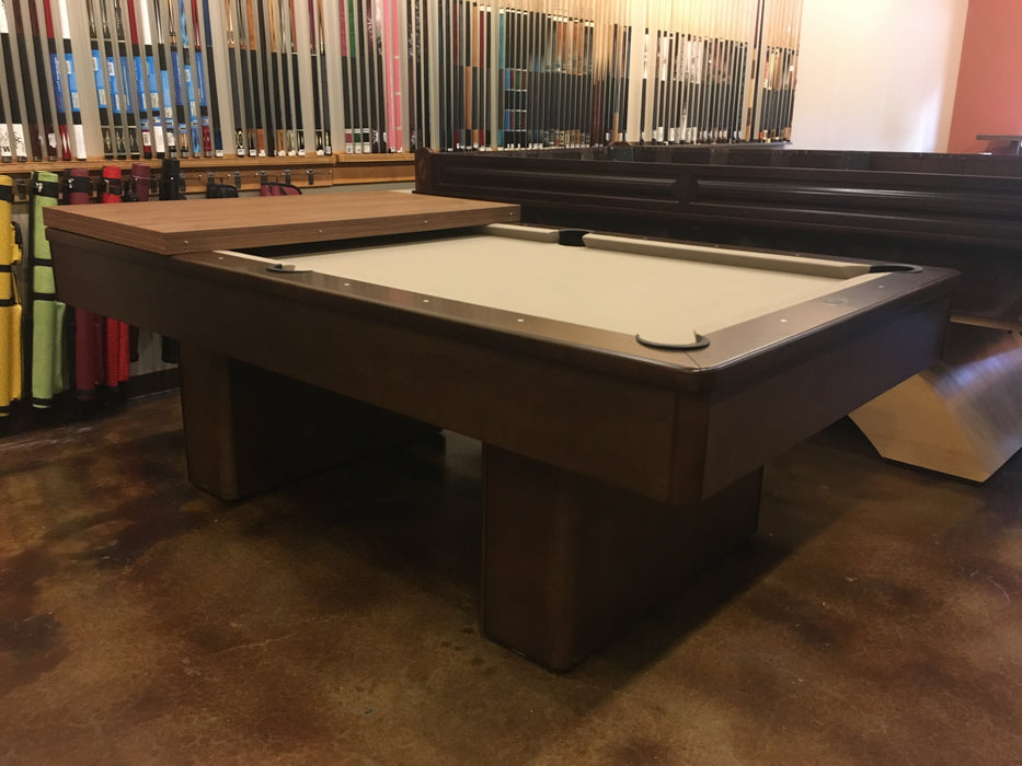 used olhausen monarch pool table pecan finish