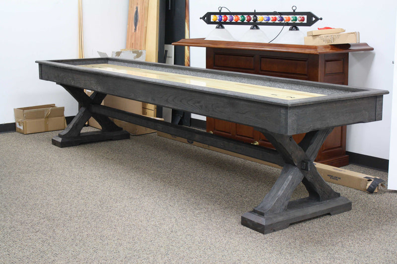 presidential Kariba shuffleboard table side view