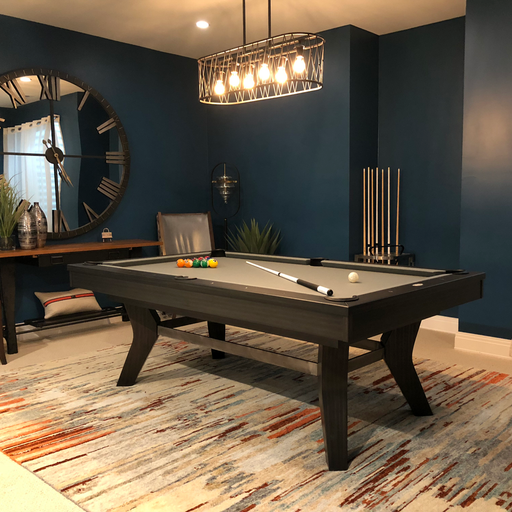 olhausen laguna pool table matte charcoal finish room setting