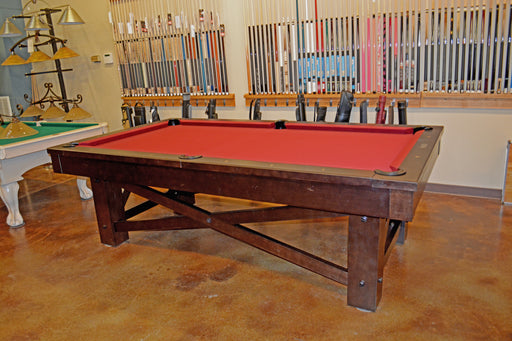 Plank and Hide McCormick Pool Table smokehouse showroom