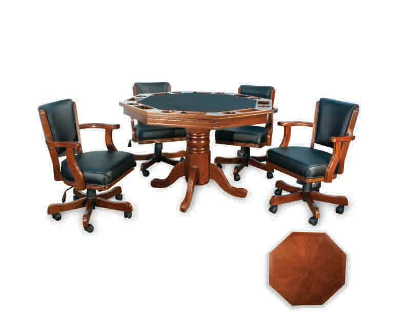 presidential octagonal poker table set